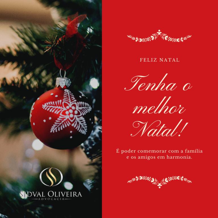 Mensagem de Natal e recesso de final de ano!