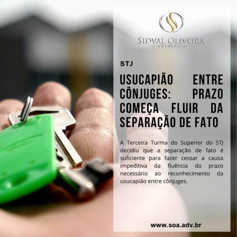 Read more about the article Usucapião entre cônjuges: Prazo começa fluir da separação de fato