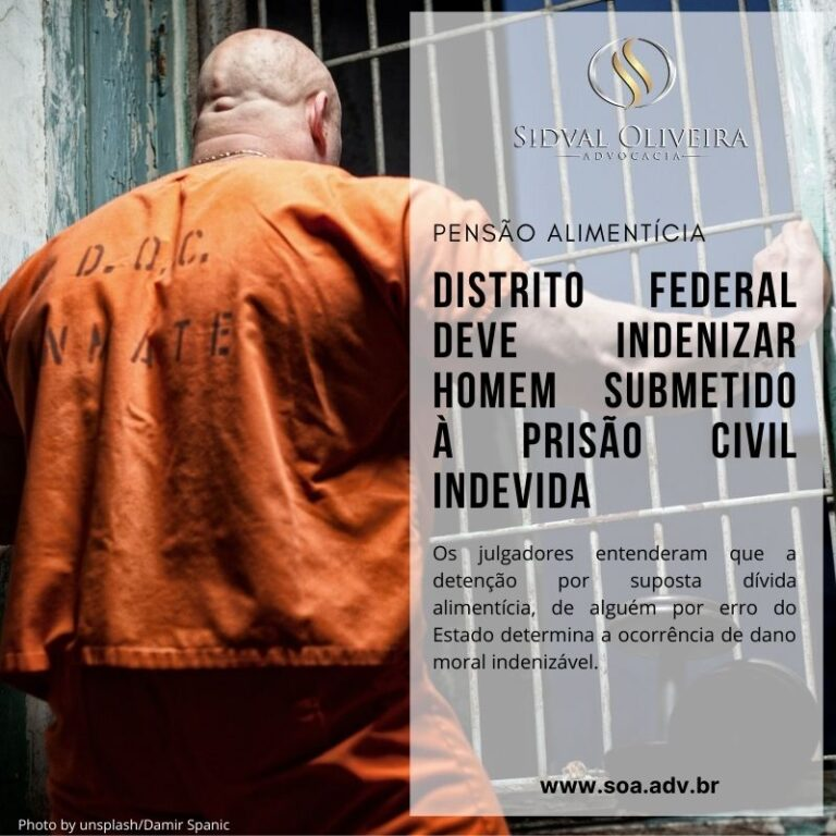 Read more about the article Distrito Federal deve indenizar homem submetido à prisão civil indevida
