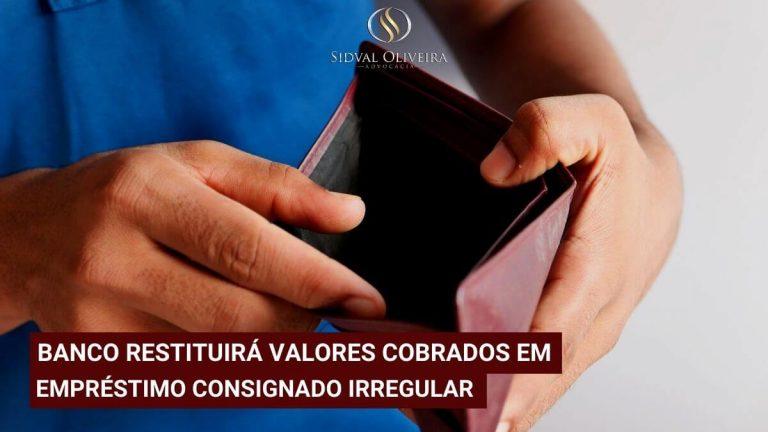 Read more about the article Banco restituirá valores cobrados em empréstimo consignado irregular.