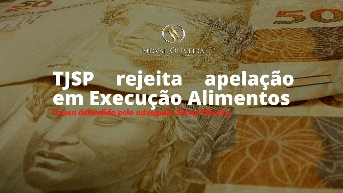 Read more about the article TJSP rejeita apelação em Execução Alimentos